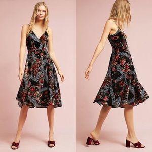 Anthropologie Eri +Ali Floral burnout slip dress